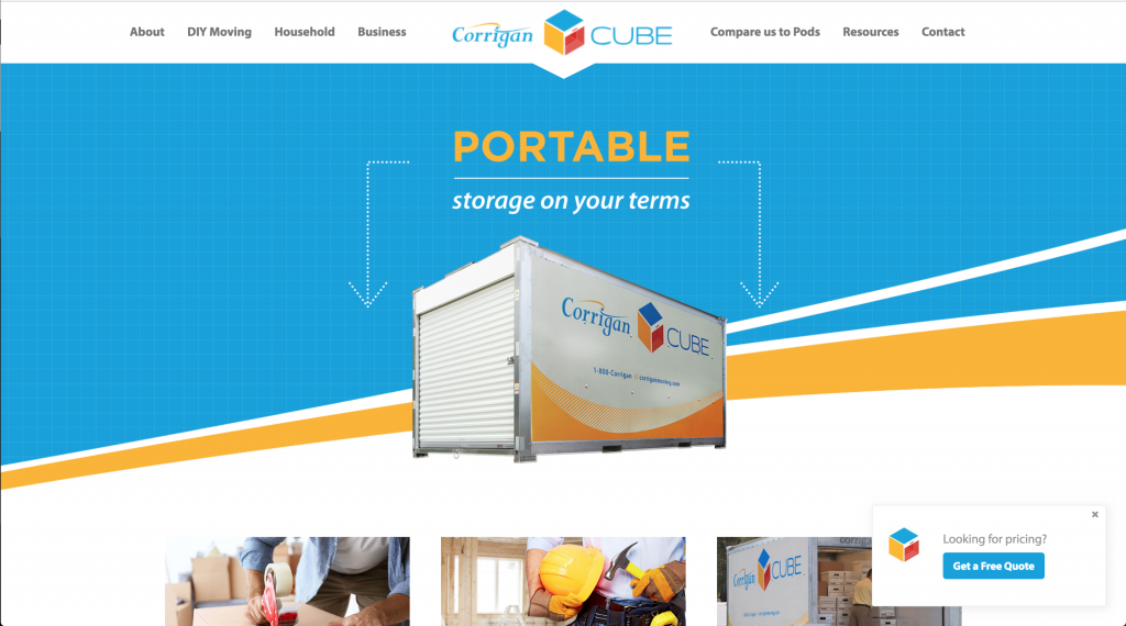 Corrigan Cube WordPress Theme built by Spokencode.