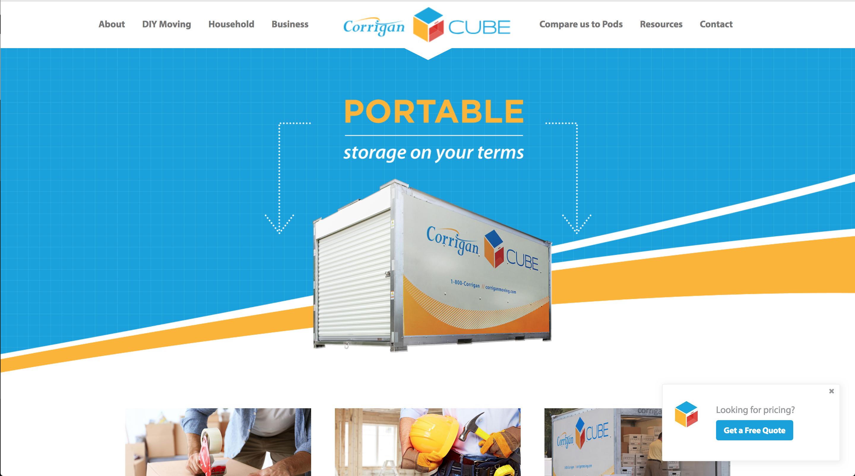Corrigan Cube WordPress Theme built by Spokencode.