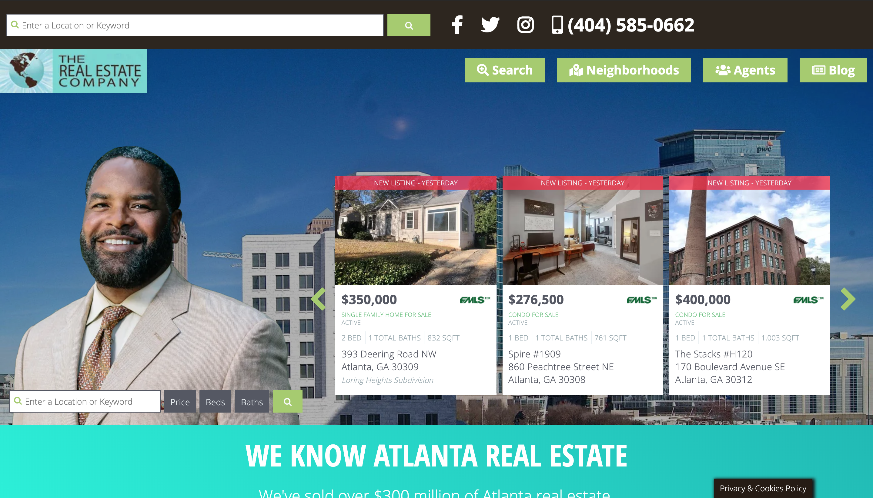 The Real Estate Company Wordpress website with IDX by Spokencode