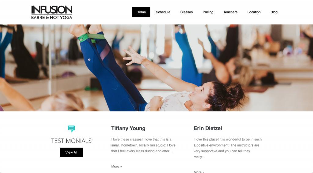 Barre Maui custom WordPress website
