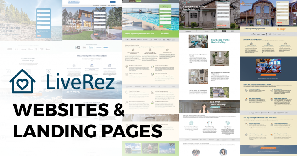 LiveRez websites and landing pages by Spokencode.
