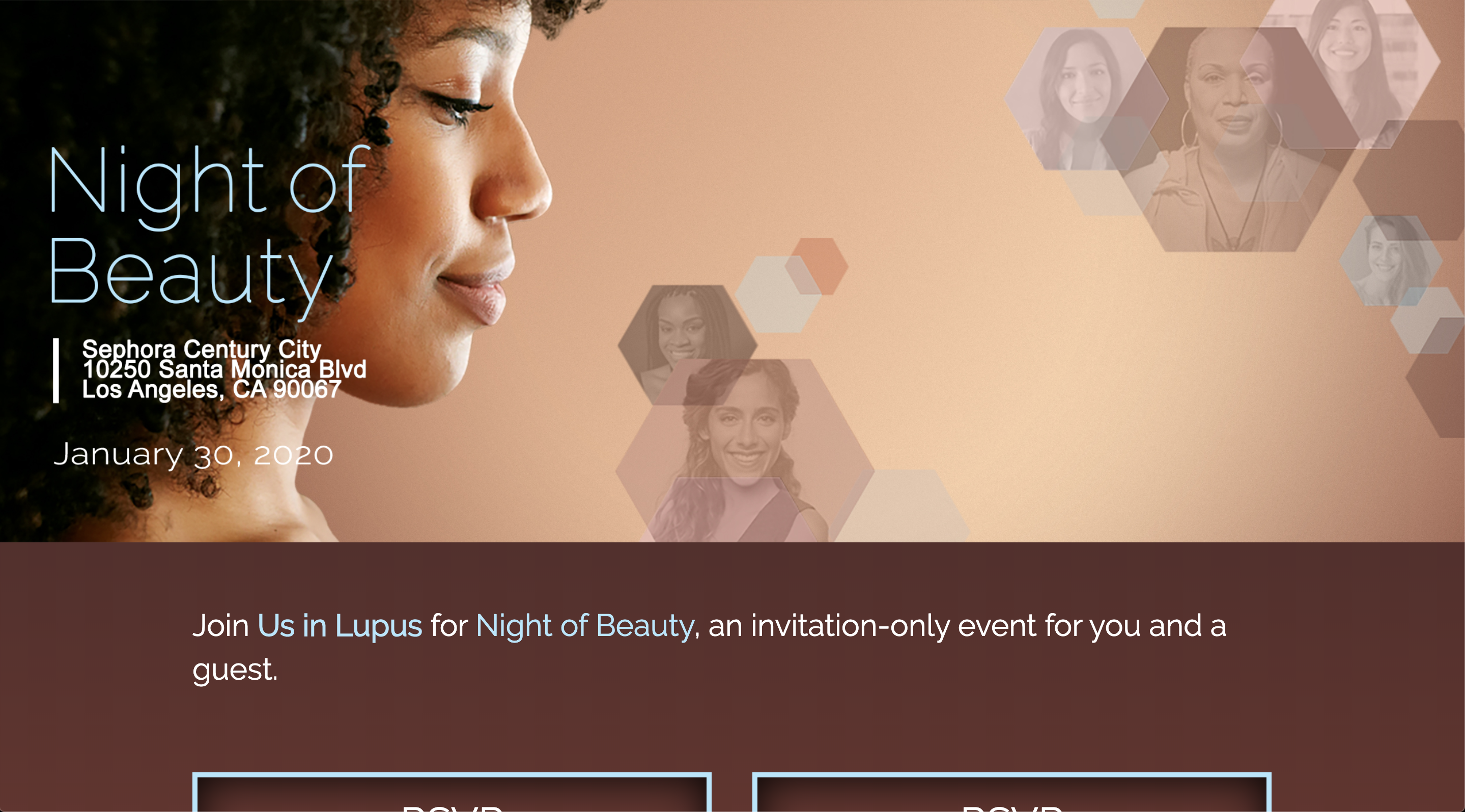 Lupus Night of Beauty custom WordPress website